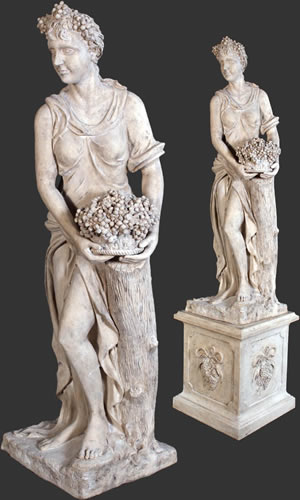 Statues Pedestal Historic Art Decor
